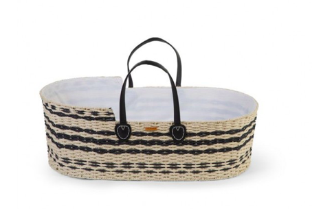 Moses basket inclusief matras | Zwart Leather | Childhome