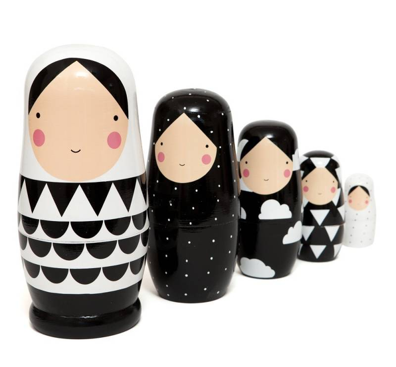 Nesting dolls XL | Black & White