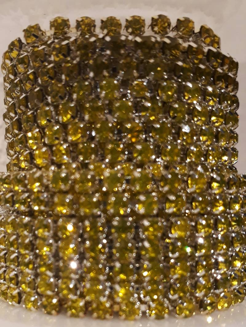 Citrine rhine chain 3 mm