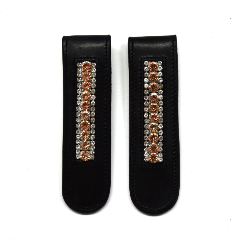 Boot clips - Rose gold & Crystal