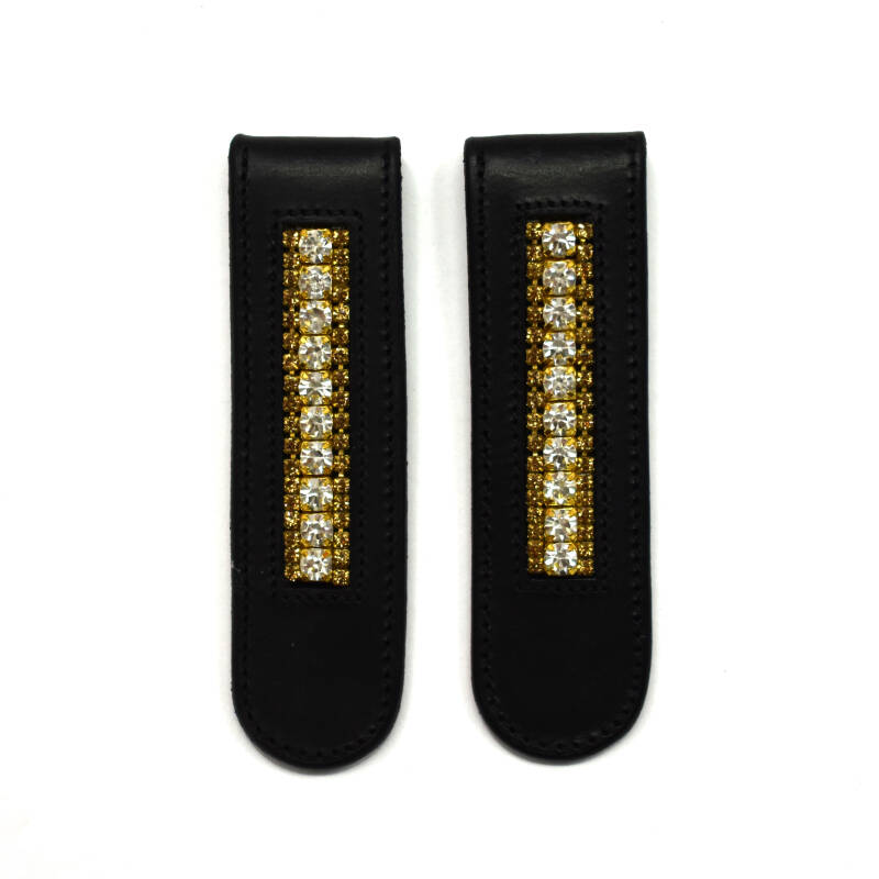 Boot clips - Gold & Crystal