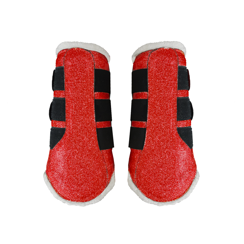 Flextrainers/brushing boots Sparkle Red