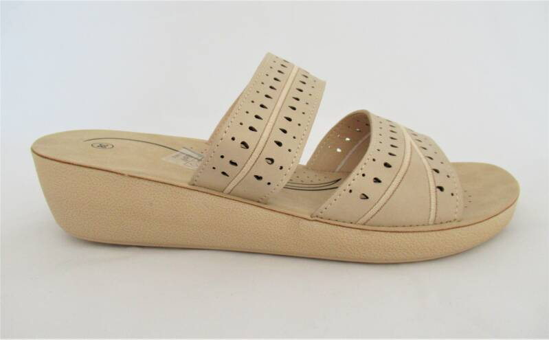 slippers beige lage sleehak