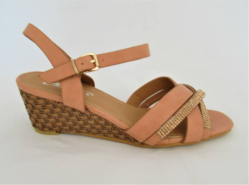 sandalen wedge darknude glitter- nog in 37, 38, 40