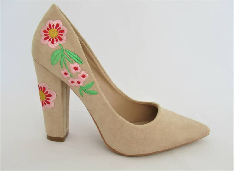 pumps nude bloem- nog in 35, 37, 38, 39