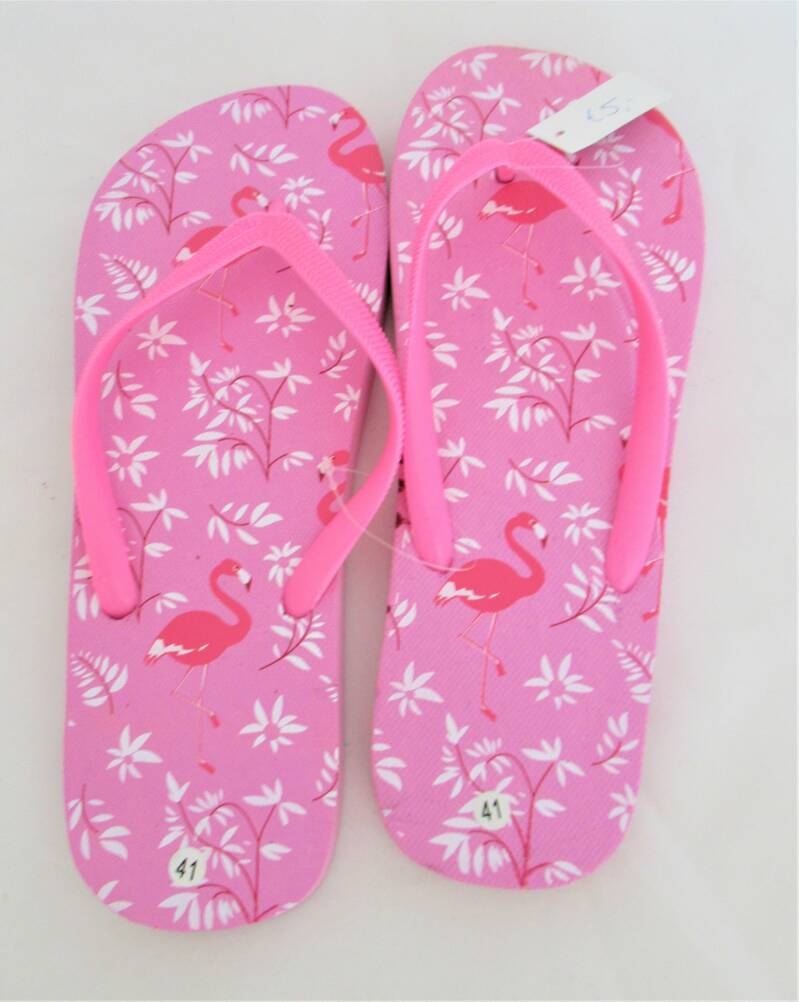 slippers flamingo roze- nog in 37, 39, 40
