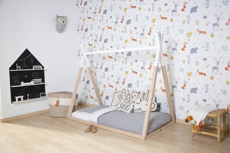 Tipi Bed Hout-Wit 70 140cm Childhome