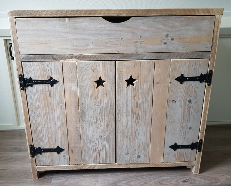 "Steigerhouten Commode ""Nick"" Hanneskids Home & Hout"
