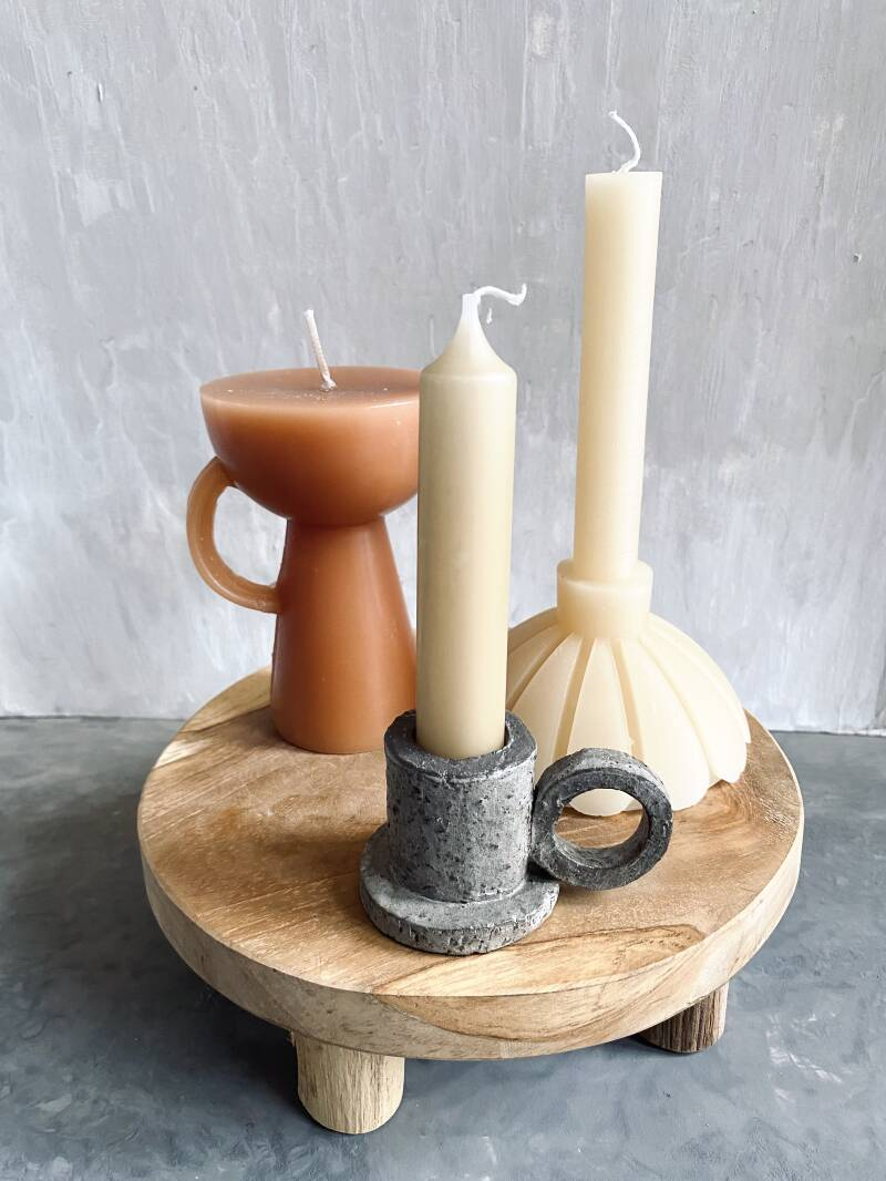 CANDLE SET SCULPTURE WITH LOVE
