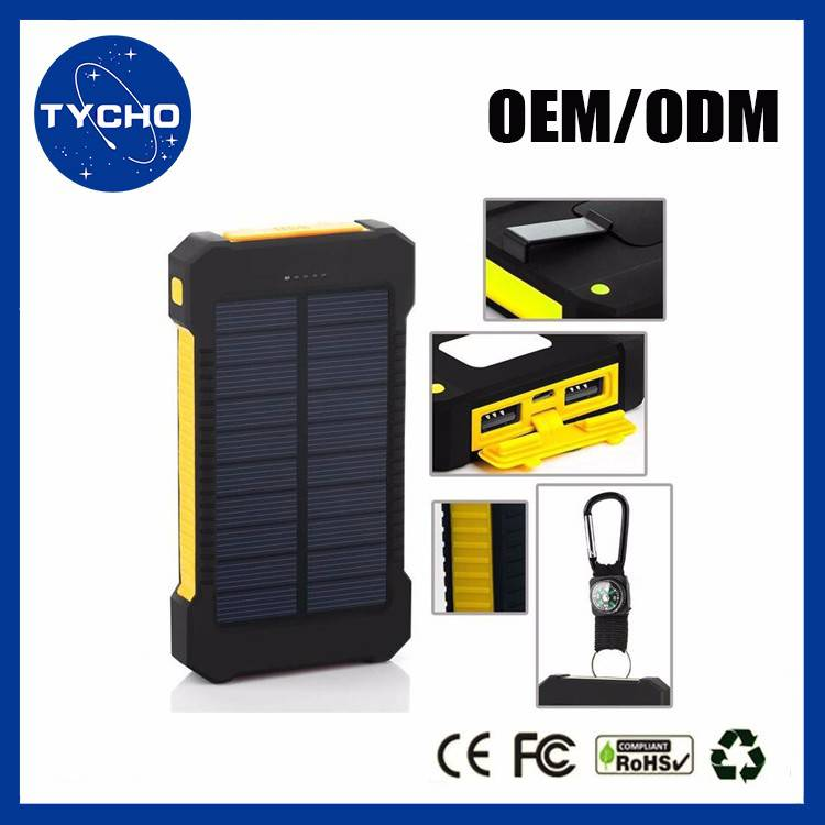 Solar Waterdichte Power Bank10000 mAh