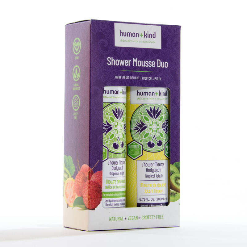 Human + Kind Shower Mousse DUO