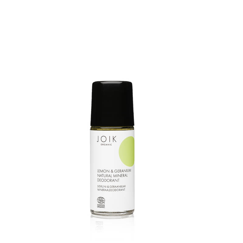 JOIK Lemon&Geranium mineral deodorant - glass bottle