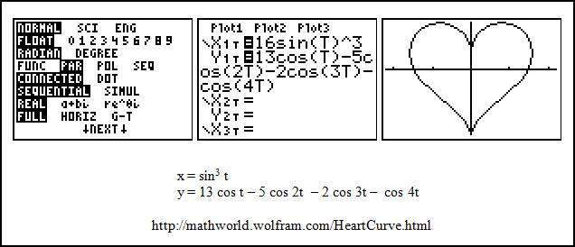 PIN 8: How to draw a heart on a TI-84 | Luc Janus' Math World