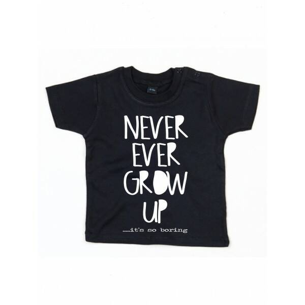 Never Grow Up T-shirt Zwar1