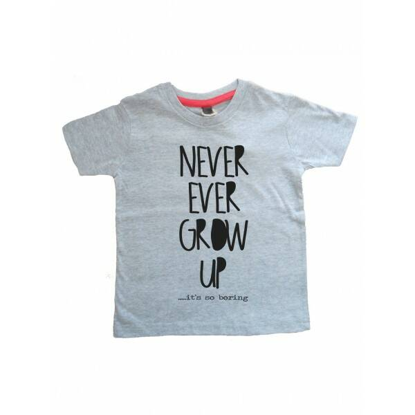 Never Grow Up T-shirt Grij12