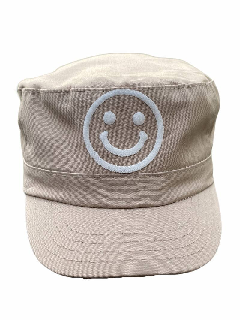* NEW * Smiley Military Cap