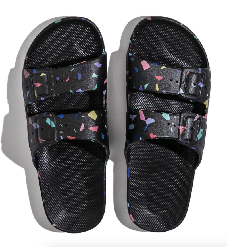 Freedom Moses - TERRAZO BLACK Slippers Adult