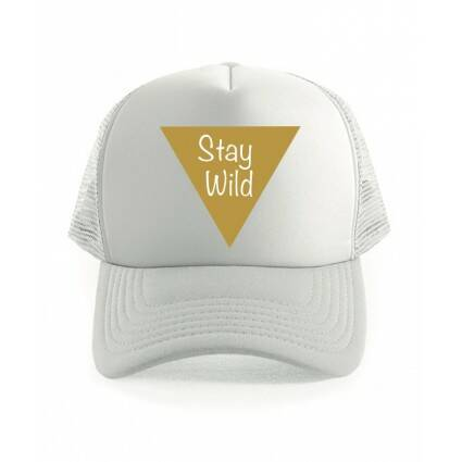 Stay Wild Truckercap Wit