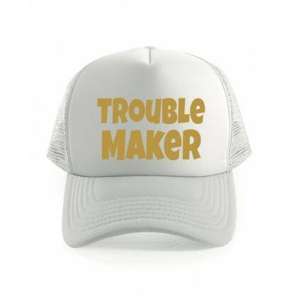 Trouble Maker Truckercap Wit