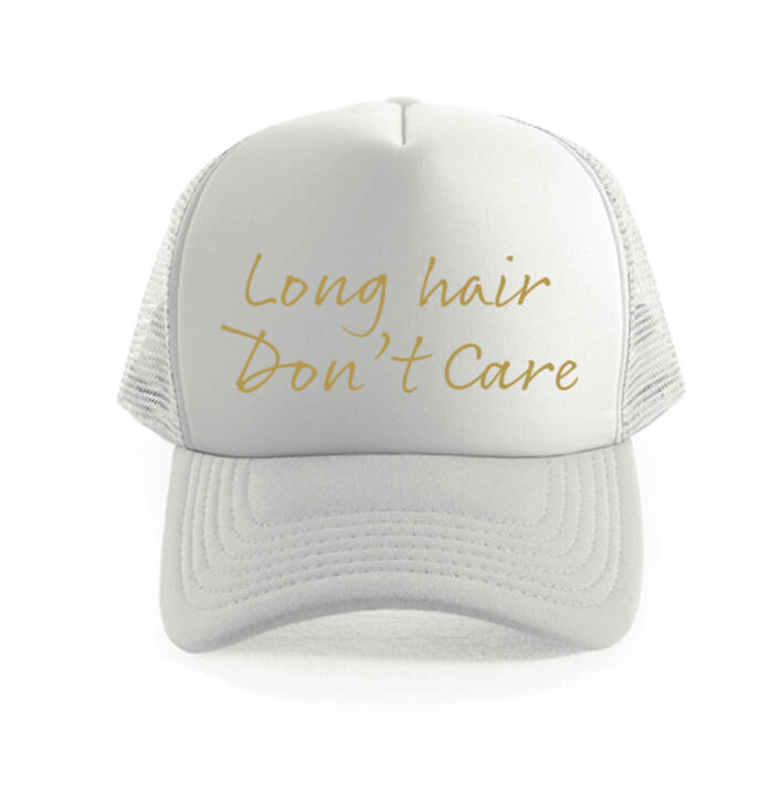 * NEW * Long Hair Don't Care Truckercap Wit