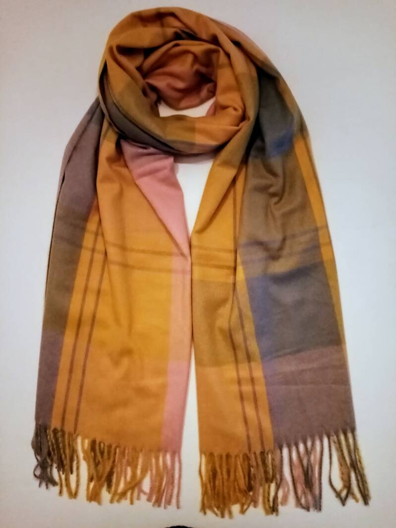 Scarve Classic Beige/Yellow/Pink