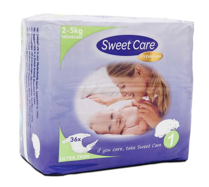 SweetCare luiers Ecofriendly ULTRADUN Newborn (Doos)