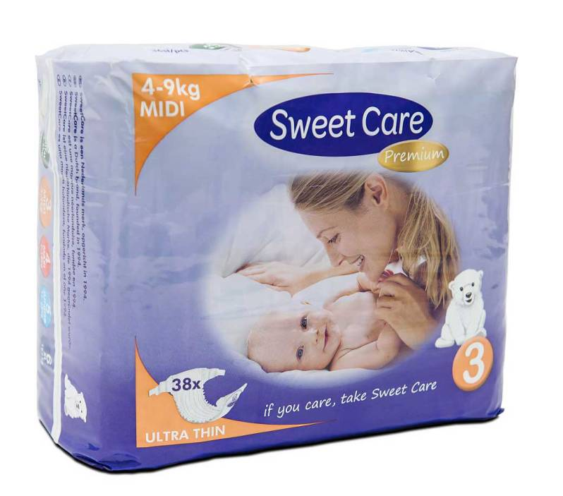 SweetCare luiers Ecofriendly ULTRADUN Midi (Doos)