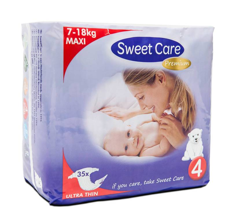 SweetCare luiers Ecofriendly ULTRADUN Maxi (Doos)