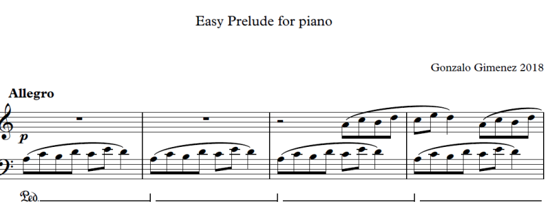 Easy prelude for piano