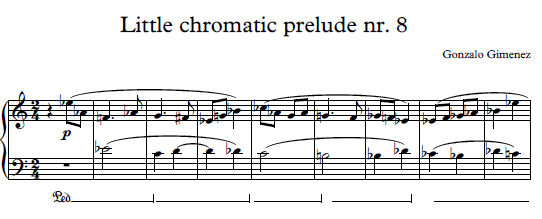 Little Chromatic prelude for piano students nr.8