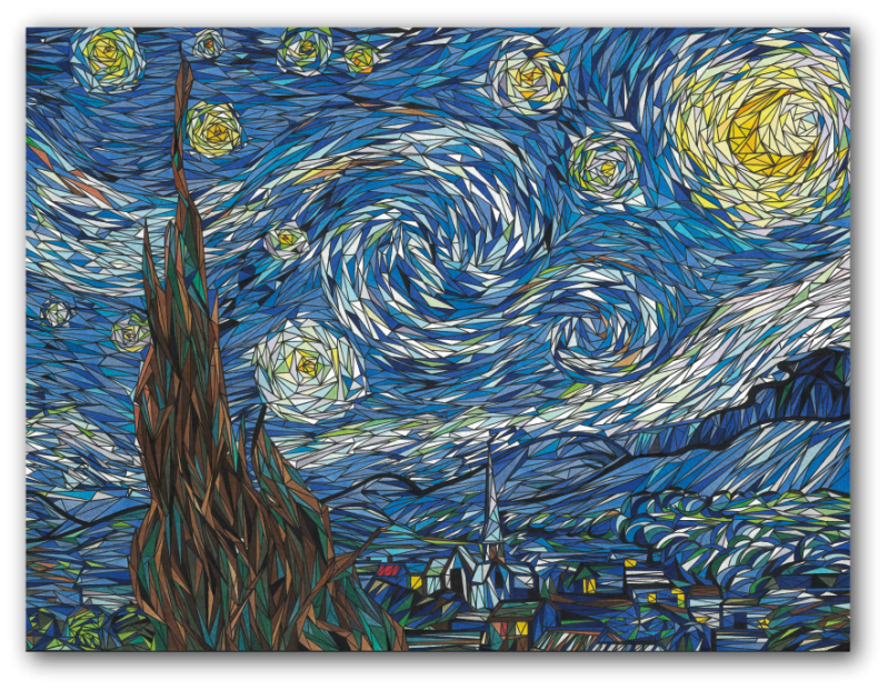 Van Gogh - Sterrennacht Postcard/Artprint