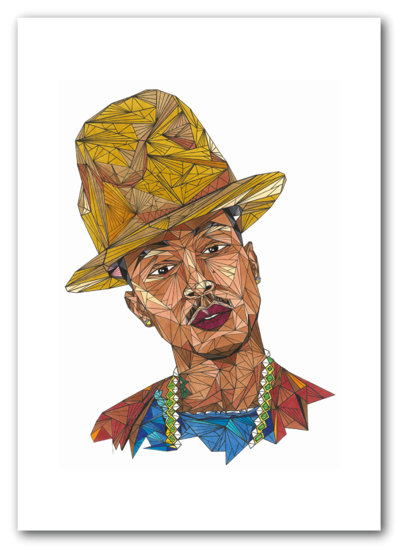 Pharrel Williams A4 297x210mm