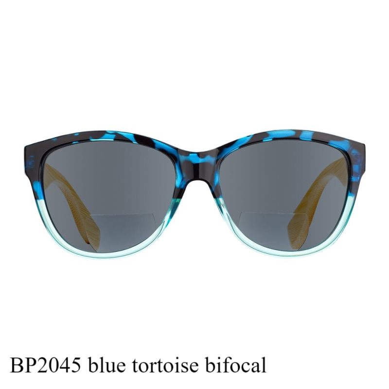 Island Bamboo Bi-focal Collection sun reader (zonnebril met leesstuk) black blue BP2045