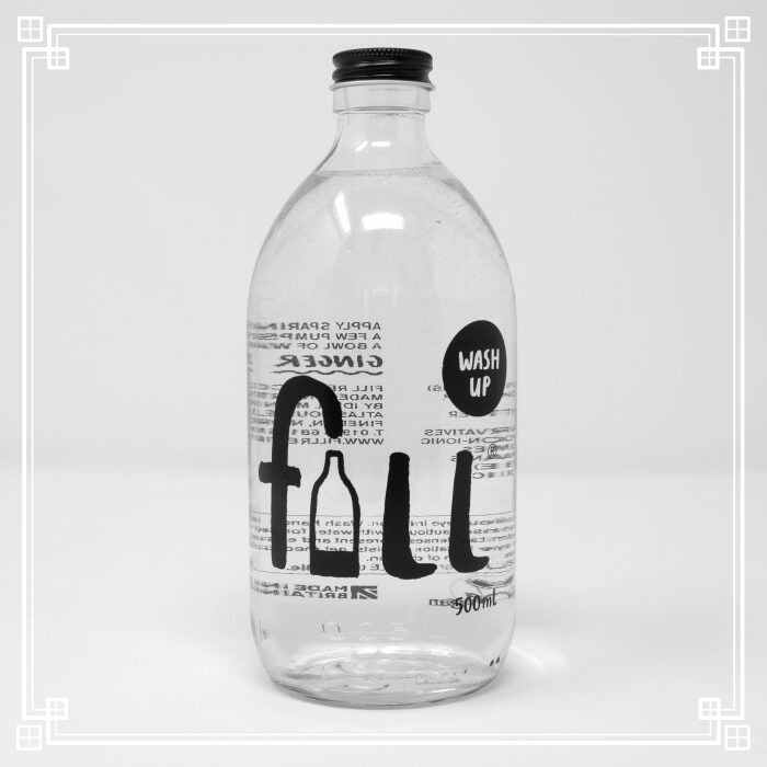 Fill Washup with Bottle (500ml)