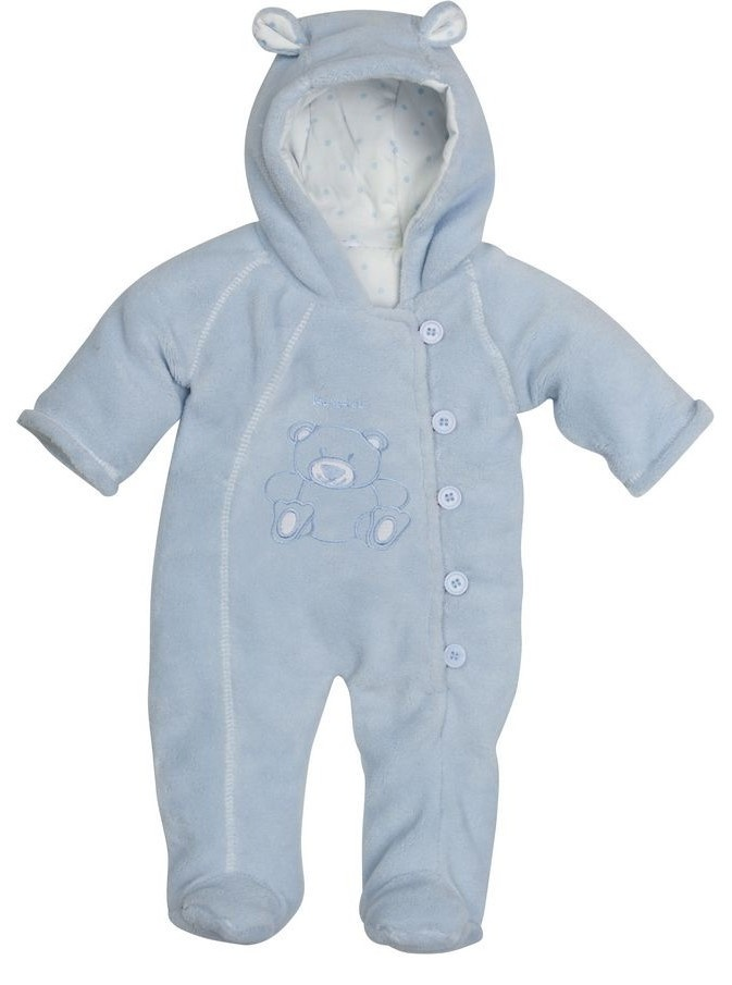 Playshoes babypyjama jumpsuit fleece junior blauw