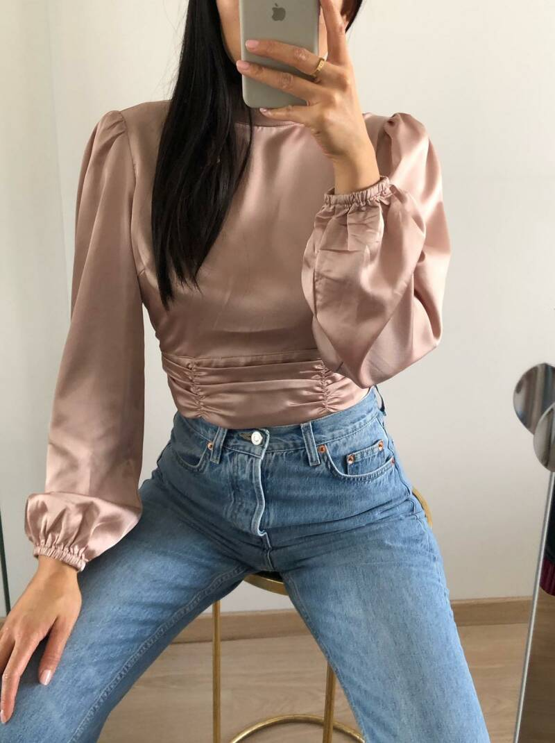 Phoebe top soft pink
