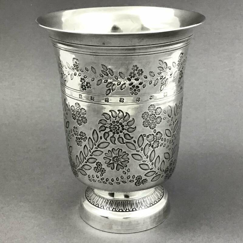 Large Louis-Philippe beaker, sterling silver, France circa 1840
