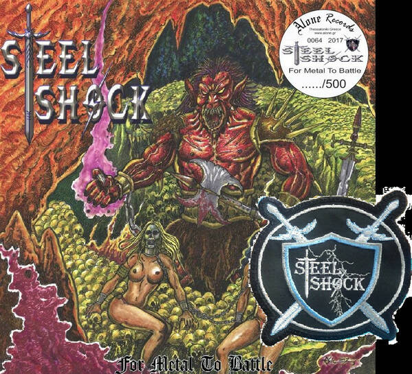 STEEL SHOCK – For Metal To Battle  numbered cd,s SIGNED