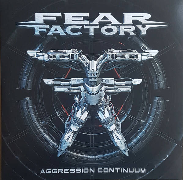 Fear Factory – Aggression Continuum  Red / Black Marbled