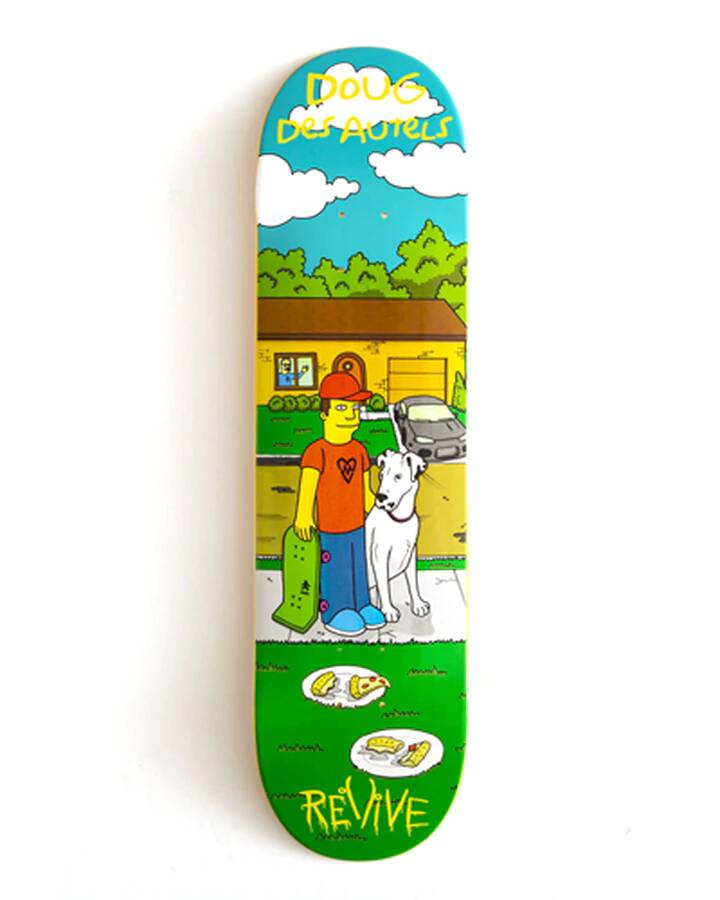 ReVive Skateboard Deck Doug Des Autels deck 8.25""