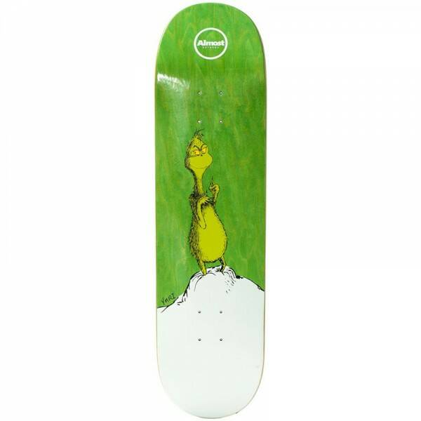 Almost Yuri Grinch R7 Skateboard Deck 8.375