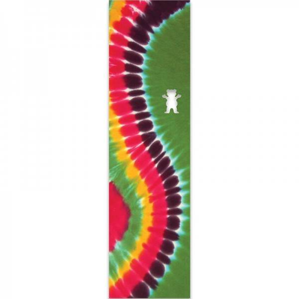 Grizzly Curved Tie-Dye Griptape Sheet Green 9.0