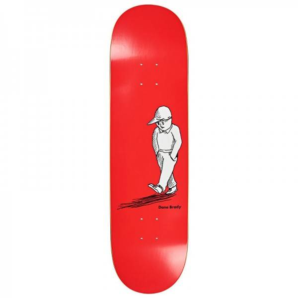 Polar Dane Brady Alone Skateboard Deck Red 8.5