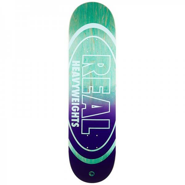 Real Heavyweight Pastel Green Bottom Skateboard Deck 8.38