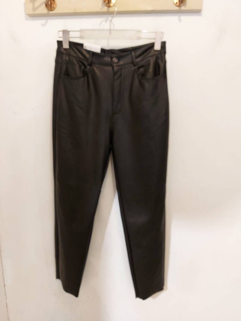 Only Emily leather pant ankle