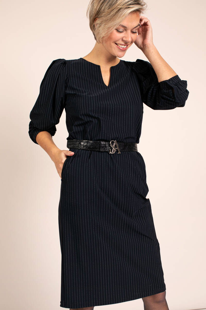 Flexi pinstripe dress
