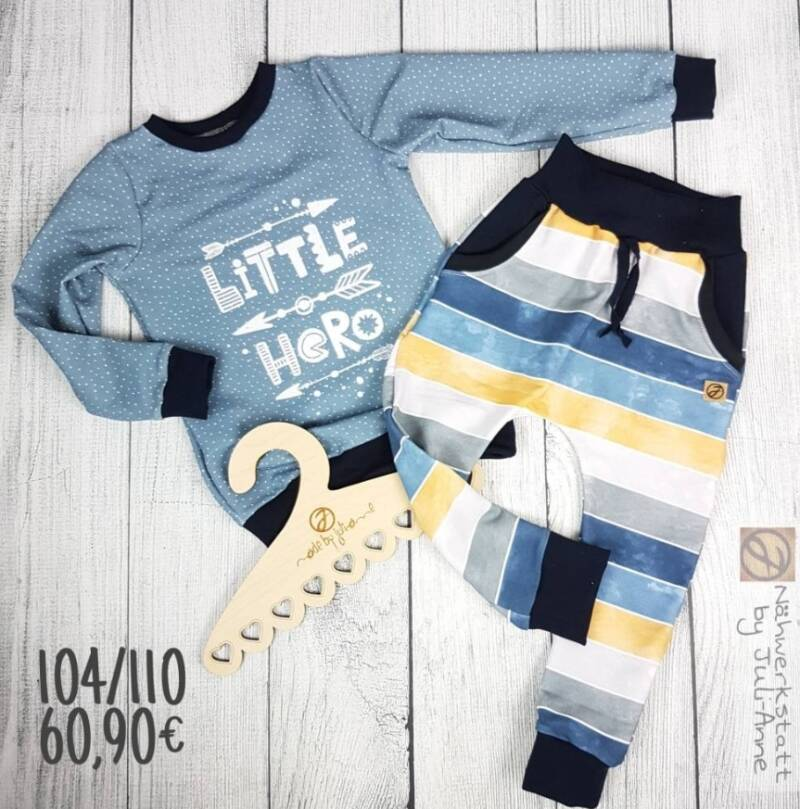 """104/110 Set: Pullover Max & Baggypants """"Little Hero"""""""