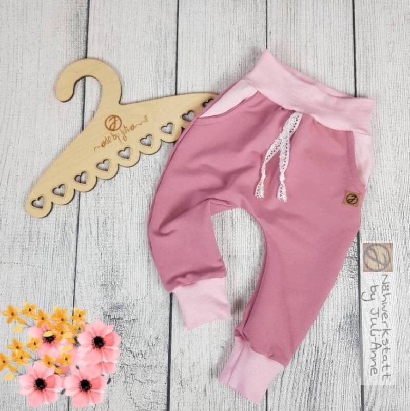 Baggypants Sommersweat Altrosa