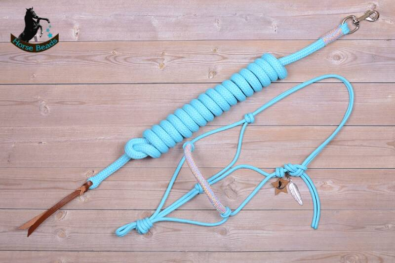 BASIC touwhalster + leadrope met afwerking