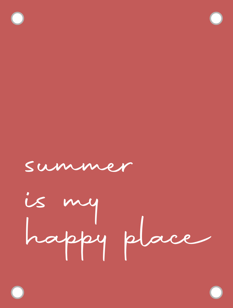 Tuinposter | summer is my happy place